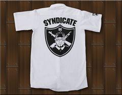 SYNDICATE★ワークシャツ・ギャングスタ★S★白★新品
