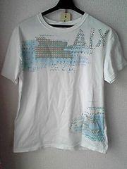 ARMANI EXCHANGE白色半袖Tシャツ S-Mサイズ アメリカ製 アルマーニ 美品即決