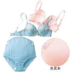薔薇モチーフマタニティブラ&ショーツD80/ L新品ピンク