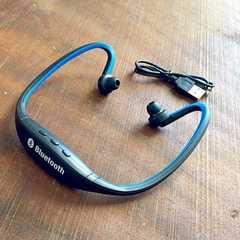 Bluetooth 4.0 ヘッドホン イヤフォン イヤホン スポーツ 青