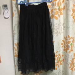 イング 2wayレーススカート 大きいサイズ対応 新品未使用 黒