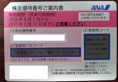 【出張・春休みの旅行に】17.05.31までANA株主優待券2枚セット