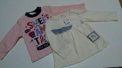 新品タグ付き2枚セット★Tシャツ トレーナー 女の子 80-90