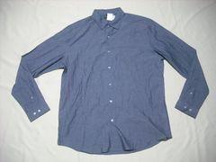 53 男 THEORY セオリー 青 長袖シャツ XL