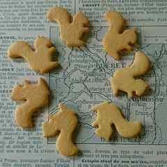 デコパーツ クッキー型リスちゃん