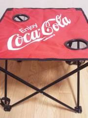 ■コカコーラ*ビーチテーブル(ドリンクホルダー(専用収納キャリーバッグ付)*レッド■