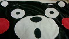 くまモンびっくり顔枕カバー43×63�p ファスナー式 ブラック系