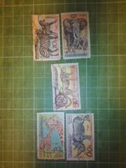 旧チェコスロバキア動物切手5種類(CS2)♪