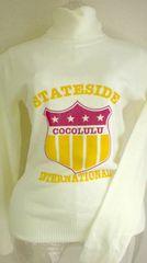新品*タグ*COCOLULUココルルタートルネックカットソーロゴ白