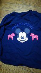 Mickey☆カジュアル☆ネイビー☆カットソー ☆size100 UNIQLO