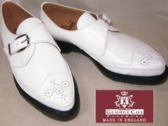 ジョージコックスGeorge Coxイギリス製トンガリ靴4462白uk7.5