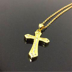◆特A品★ ゴールド ダイアモンド クロス ネックレス 新品