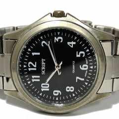 良品【980円〜】SCRIPT スタンダードなメンズ腕時計