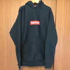 【 Supreme 】 box logo hooded sweatshirt パーカー Navy 紺