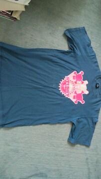 ステューシーSTUSSY青Tシャツ ブルーLサイズ