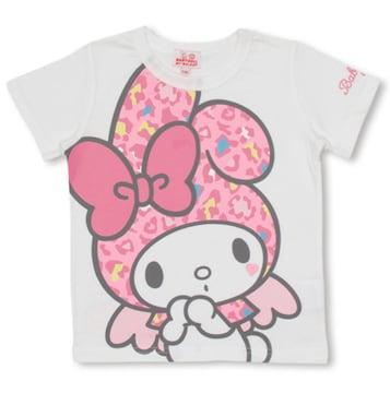 新品BABYDOLL☆130 マイメロディ×ヒョウ柄 Tシャツ 白 ベビードール