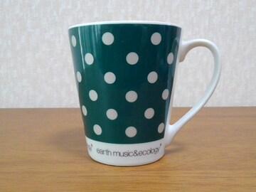 アースミュージック&エコロジー★ブランドロゴ入りドット柄マグカップ★未使用品