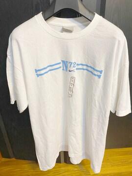 新品同様ナイキNIKEホワイトTシャツ夏プリントMナンバリング半袖