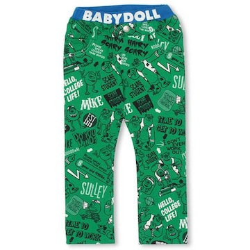 新品BABYDOLL☆140 モンスターズインク マイク パンツ グリーン ベビードール