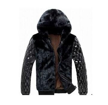 〓新品〓袖切り替えオールファーフード付JKT〓M