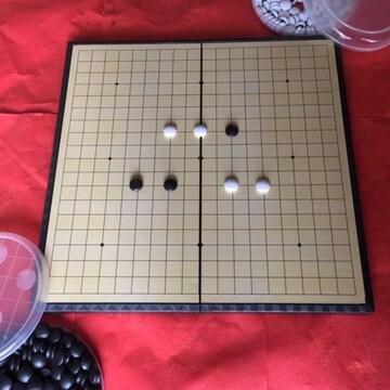 お子さんの集中力アップ今人気の囲碁盤☆落ちないマグネット石