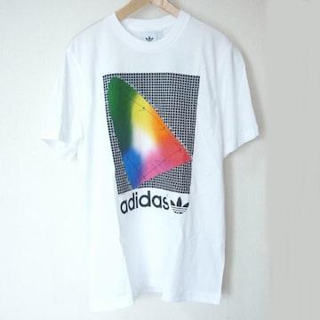 新品L★アディダスオリジナルスホワイトデザインTシャツ白