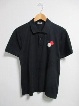 ☆MONCLER モンクレール ワッペン ポロシャツ 半袖/メンズ/M☆国内正規品☆黒