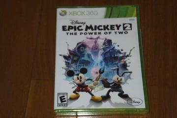 ☆新品未開封☆XBOX360 EPIC MICKEY 2 ミッキー 北米版