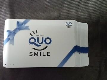 500円 QUOカード クオカード ギフト スマイル 青リボン 未使用