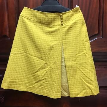 美品 ドゥアルシーヴ からし色 台形スカート ミニスカート M