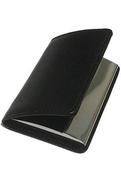 名刺入れ 牛革 カードケース オールブラック
