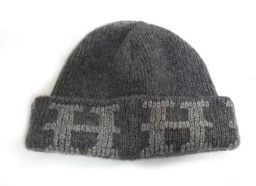 正規新品同様エルメス帽子ニット帽ニットキャップHマークカシ