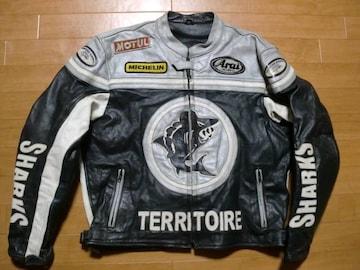 本場ヨーロッパ レーシング ライダースジャケット 2XL