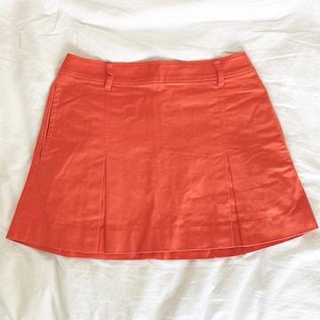 パーリーゲイツ  ゴルフ プリーツスカート オレンジ#0