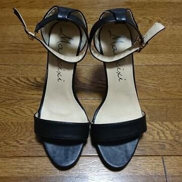 ヒール/サンダル/靴/シューズ/35サイズ/黒/ブラック