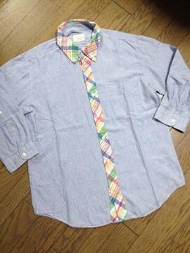 美品CIAO PANIC ストライプシャツ 日本製 チャオパニック