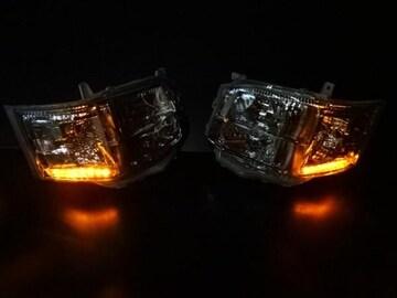 ウィンカー LED ヘッドライト ハイエース 200 3型 �V型