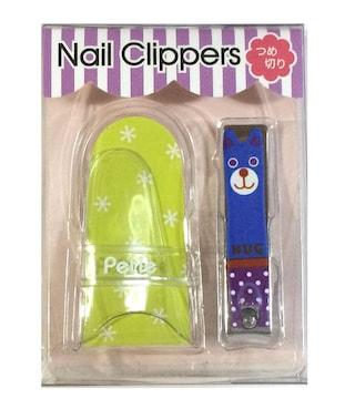 新品♪NAIL CLIPPERS ケース付きつめ切り ハッピーベアー