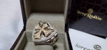正規限定 ローリーロドキン ゴシッククロスシールドリング 15号 YG18K×SV925 指輪
