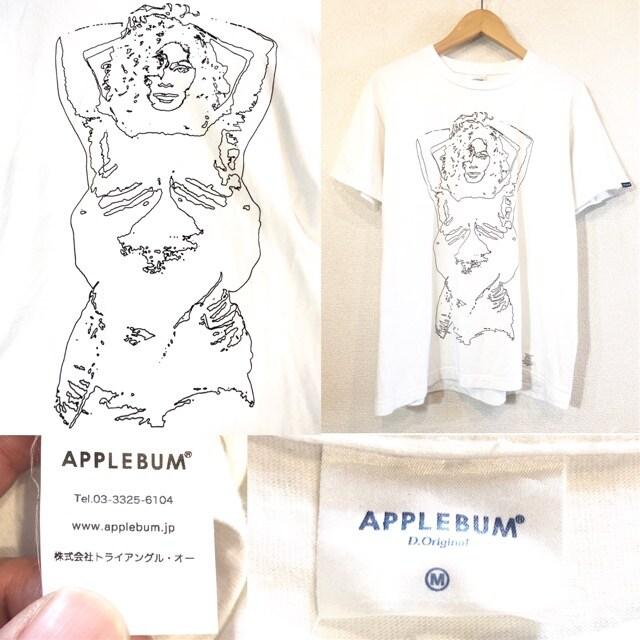 APPLEBUM■Tシャツ■ガールプリント■アップルバム■白 < ブランドの