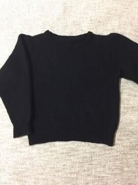 658.編み機☆セーター☆黒/ブラック