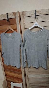 ハリウッドランチマーケット/HRM カットソー ロングTシャツ 2枚セット 2