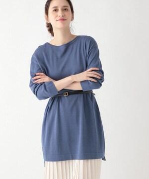 *studio CLIP* コットンキュプラ チュニックpo 新品blue