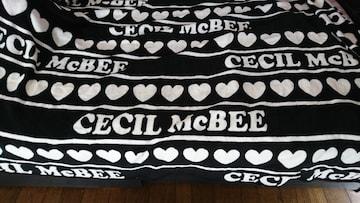 ★新品★非売品★CECIL McBEE★毛布★セシル★黒白★ブランケット