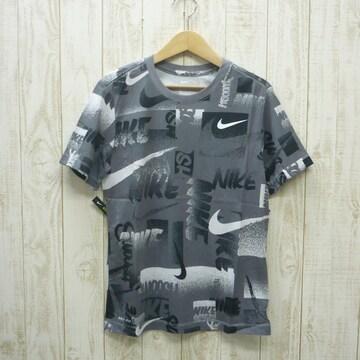 即決☆ナイキ特価ロゴ半袖Tシャツ GRY/XLサイズ 新品 ドライ