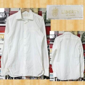 LIBERTY LONDON リバティ ロンドン シワ加工ドレスシャツ イタリア製 美品