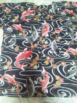 ☆新柄黒×流水に黒赤鯉柄子供用ダボシャツ150