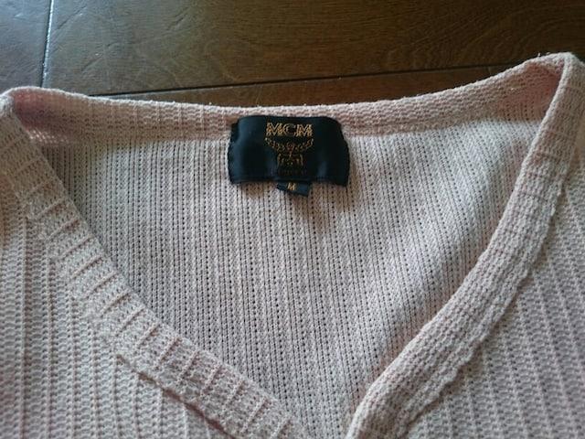 MCM Tシャツ ピンク系 ヘンリーネック Mサイズ 中古 < ブランドの