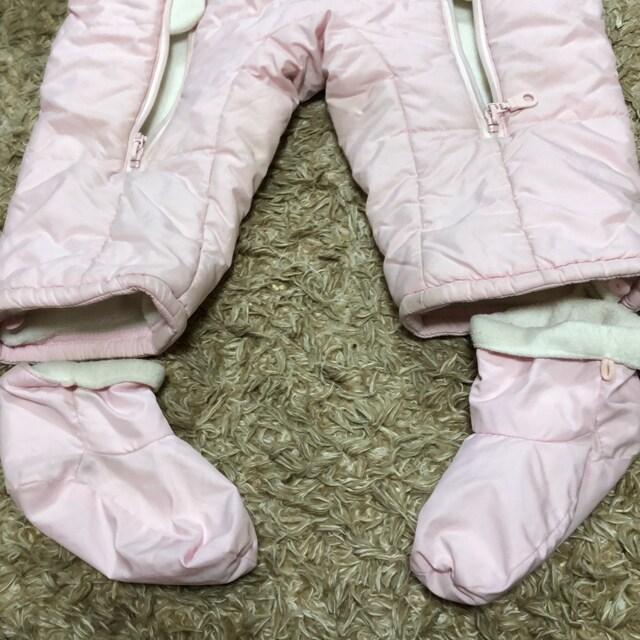 防寒 カバーオール ピンク 80 < ブランドの