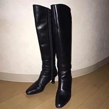 ロングブーツ ピッティ pitti feminine  黒23cm